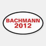FOUR Bachmann 2012 Oval Stickers