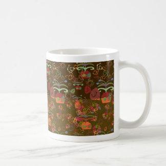 Four background in one coffee mug