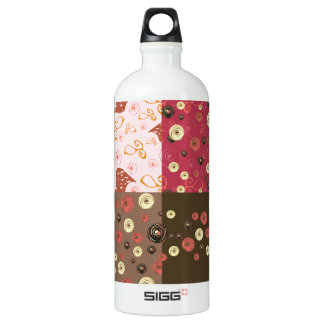 Four background in one SIGG traveler 1.0L water bottle