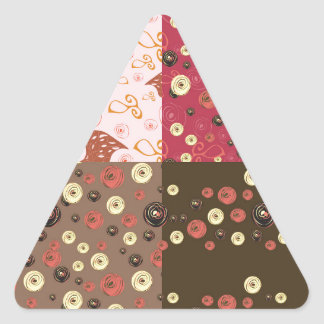 Four background in one triangle sticker