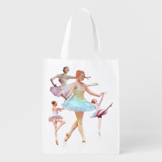 Four Ballerinas in Four Positions Customizable Market Totes