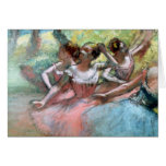 Four ballerinas on the stage card