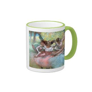 Four ballerinas on the stage (pastel) coffee mug
