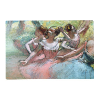 Four ballerinas on the stage (pastel) laminated placemat