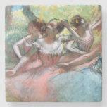 Four ballerinas on the stage stone coaster