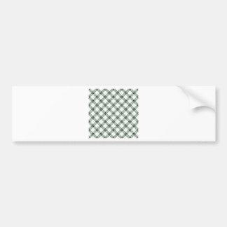 Four Bands Small Diamond - Black on Honeydew Car Bumper Sticker