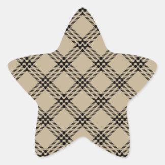 Four Bands Small Diamond - Black on Khaki Sticker