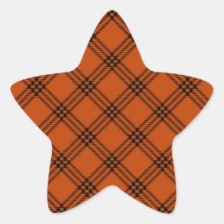 Four Bands Small Diamond - Black on Mahogany Star Sticker