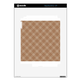 Four Bands Small Diamond - Brown2 iPad 2 Decals