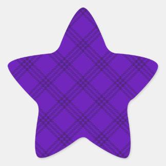 Four Bands Small Diamond - Dark Violet1 Star Sticker