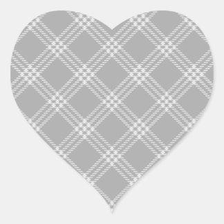 Four Bands Small Diamond - Gray2 Heart Sticker