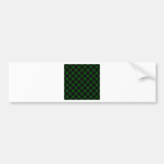 Four Bands Small Diamond - Green on Black Bumper Sticker