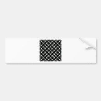 Four Bands Small Diamond - Honeydew on Black Car Bumper Sticker