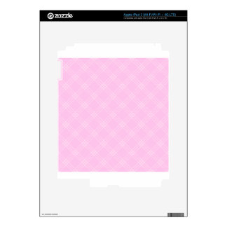 Four Bands Small Diamond - Pink2 Decal For iPad 3