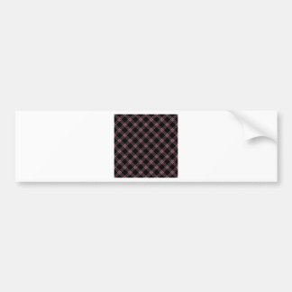 Four Bands Small Diamond - Puce on Black Bumper Sticker