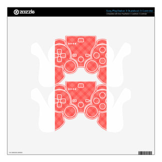 Four Bands Small Diamond - Red1 Skins For PS3 Controllers