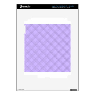 Four Bands Small Diamond - Violet1 Skins For iPad 3