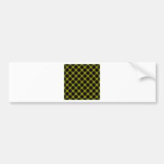 Four Bands Small Diamond - Yellow on Black Bumper Sticker