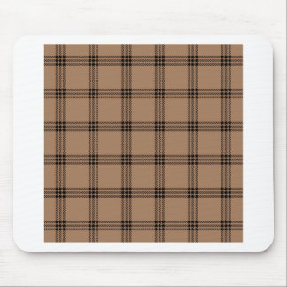 Four Bands Small Square - Black on Cafe au Lait Mouse Pad