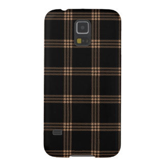 Four Bands Small Square - Cafe au Lait on Black Galaxy S5 Case