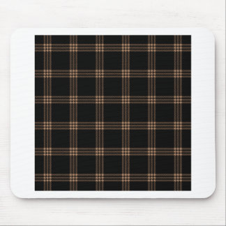 Four Bands Small Square - Cafe au Lait on Black Mouse Pad