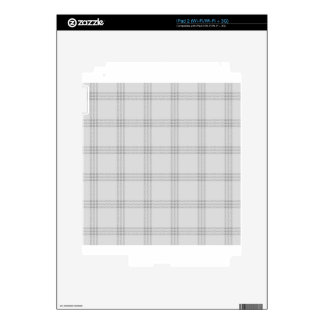 Four Bands Small Square - Gray1 Skin For iPad 2