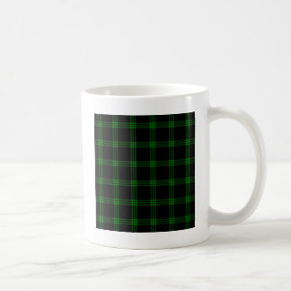 Four Bands Small Square - Green on Black Coffee Mug