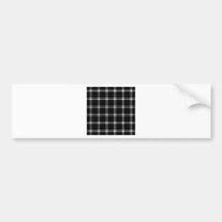 Four Bands Small Square - Honeydew on Black Car Bumper Sticker