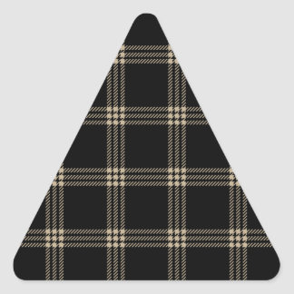 Four Bands Small Square - Khaki on Black Triangle Sticker