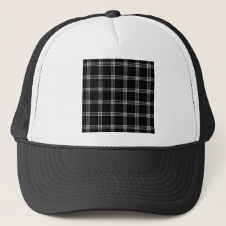 Four Bands Small Square - Light Gray on Black Trucker Hat