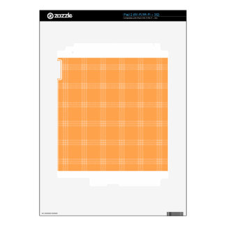 Four Bands Small Square - Orange2 Decal For iPad 2