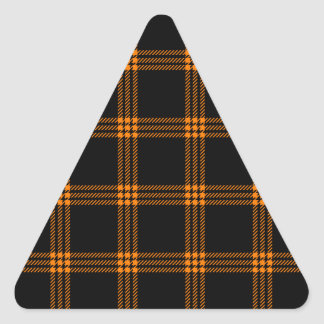 Four Bands Small Square - Orange on Black Triangle Sticker