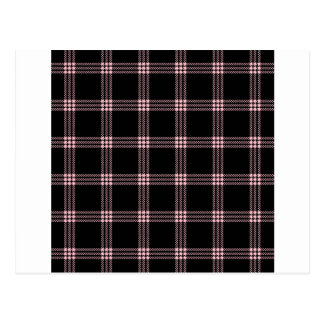 Four Bands Small Square - Pink on Black Postcard