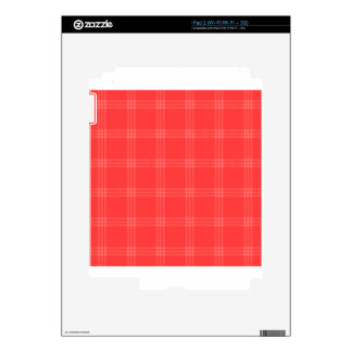 Four Bands Small Square - Red2 Skins For The iPad 2
