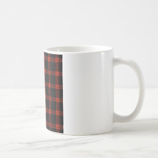 Four Bands Small Square - Scarlet on Black Coffee Mug
