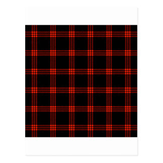 Four Bands Small Square - Scarlet on Black Postcard