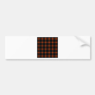 Four Bands Small Square - Tangelo on Black Bumper Sticker