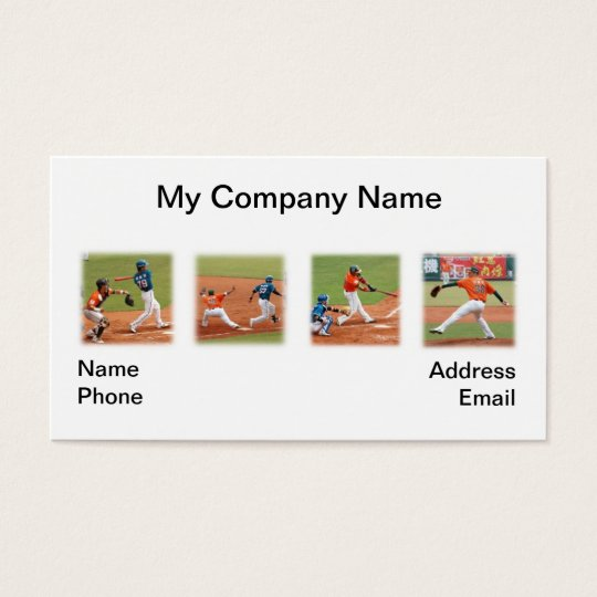 Four Baseball Game Images Business Card