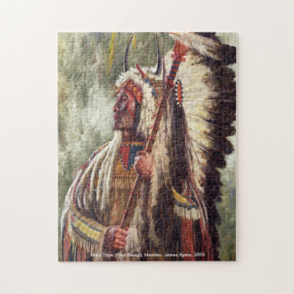 Four Bears, Native American warrior chief puzzle