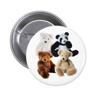 Four bears pinback button