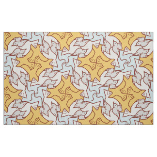 Four Birds Pattern Fabric