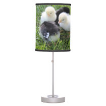 Four Black and Yellow Baby Chicken chicks Table Lamp