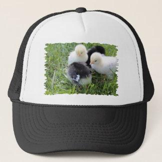 Four Black and Yellow Baby Chicken chicks Trucker Hat