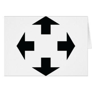 four black arrows icon card