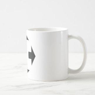 four black arrows icon coffee mug
