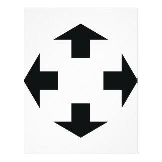 four black arrows icon flyer