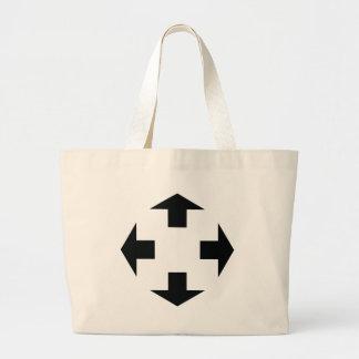 four black arrows icon large tote bag