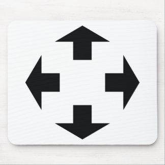 four black arrows icon mouse pad