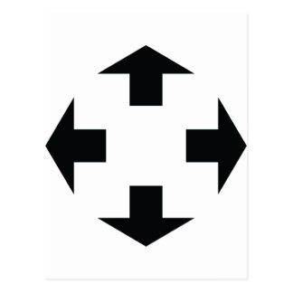 four black arrows icon postcard