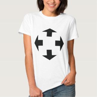 four black arrows icon tee shirt